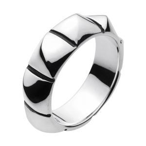 シルバーリング ピンキーリング 指輪 メンズリング スタッズ ハード シルバー925|e-standard
