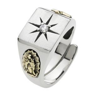 シルバーリング 指輪 メンズ 太陽 マリア クロス ネイティブアクセサリー クリスマス プレゼント e-standard