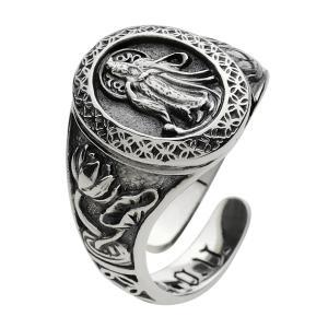 指輪 メンズ シルバーリング 菩薩 和風 仏 シルバー925|e-standard