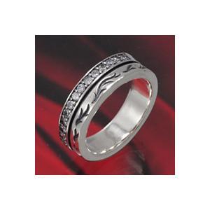 シルバーアクセサリー シルバーリング 指輪 メンズ ジルコニア トライバル ハード シルバー925|e-standard