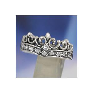 シルバーリング ピンキーリング 指輪 メンズ 王冠 クラウン ジルコニア シルバー925|e-standard