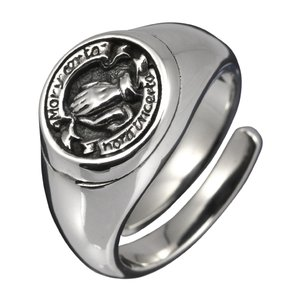 シルバーリング メンズ 指輪 プレイハンド フリーサイズ シルバー925 e-standard