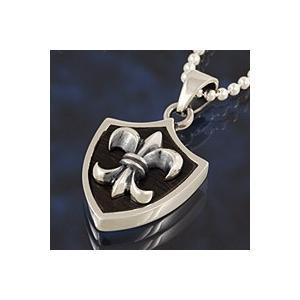 【セール】シルバーペンダントメンズ 百合の紋章ペンダント|e-standard