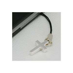 携帯ストラップ シルバー クロス 十字架|e-standard