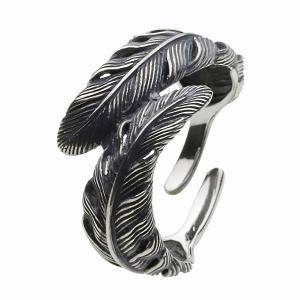 フェザー シルバーリング 指輪 メンズ 人気 ネイティブアクセ シルバー925 e-standard