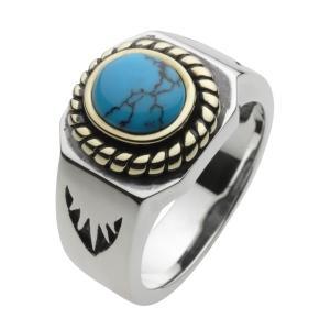 ターコイズ シルバーリング 指輪 メンズ ネイティブアクセ シルバー925 クリスマス プレゼント|e-standard
