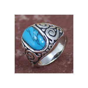 ターコイズリング シルバーリング  指輪メンズ インディアン|e-standard