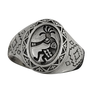 指輪 ココペリ メンズリング シルバーリング インディアンジュエリー|e-standard