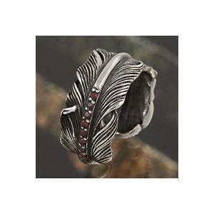 シルバーリング 指輪メンズリング フェザーリング|e-standard