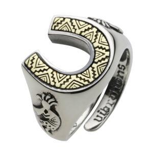 指輪 シルバーリング ネイティブアメリカン ココペリ ホースシューリング e-standard