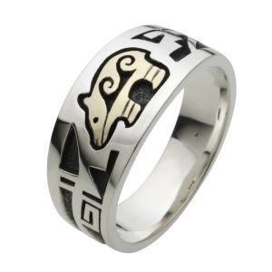 シルバーリング 指輪 メンズ ネイティブアメリカン ホピ族|e-standard