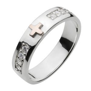 シルバーアクセサリー クロスシルバーリング 指輪メンズ ペアリングに人気 シルバー925 メンズピンキーリング レディース|e-standard
