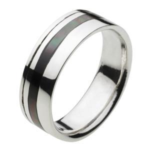 シルバーアクセサリー シルバーリング 指輪メンズ シルバー925リング ブラックシェル メンズピンキーリング 男性用 女性用|e-standard