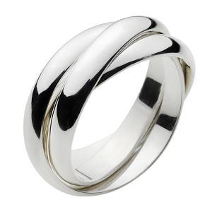 シルバーリング 指輪 メンズ 3連リング シンプル|e-standard
