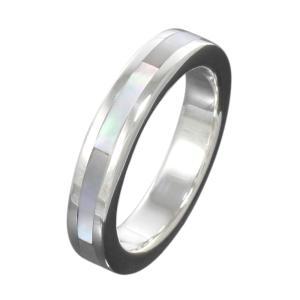 指輪 シルバーリング ホワイトシェル メンズピンキーリング|e-standard