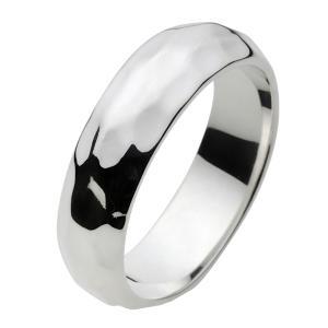 シルバーアクセサリー シルバーリング 指輪メンズ ハンドメイド風叩き加工 シルバー925リング シンプル 男性用|e-standard