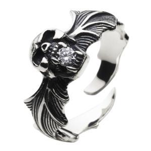 シルバーリング 指輪メンズ コウモリ スカルリング ドクロ|e-standard