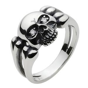 シルバーリング 指輪メンズリング スカルリング ピンキーリング ドクロ|e-standard