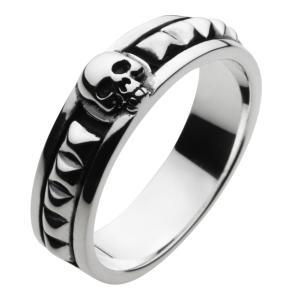 シルバーリング 指輪メンズ スカルリング シルバー925 ドクロ クリスマス プレゼント e-standard