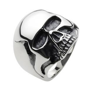 シルバーリング 指輪メンズ スカルリング キースリング ローリングストーンズ ドクロ|e-standard