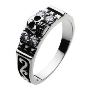 シルバーリング スカルリング メンズ指輪 ドクロ e-standard