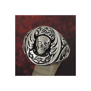 シルバーリング 指輪メンズ スカルリング シルバー925 ドクロ e-standard