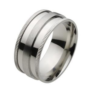 ステンレス 指輪 ステンレスリング メンズ シンプル 幅広 e-standard
