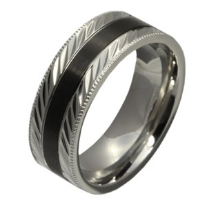 ステンレス 指輪 ステンレスリング メンズ ブラックライン ハード e-standard