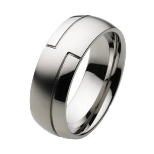 ステンレス 指輪 ステンレスリング メンズ シンプル メカニカル 甲丸|e-standard