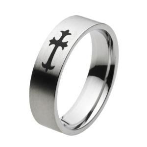 ステンレスアクセサリー ステンレスリング クロス 指輪 ユニセックス|e-standard