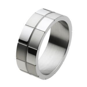 ステンレスリング 指輪 チェック柄 メンズ レディース|e-standard