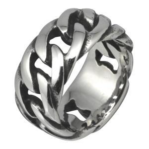 スレンレスリング メンズ 指輪 キヘイデザイン 喜平 チェーンデザイン|e-standard