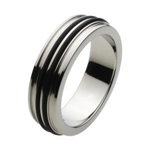 ステンレスアクセサリー ステンレスリング 指輪 ブラック 男性用 メンズ|e-standard