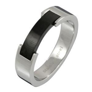 ステンレスアクセサリー ステンレスリング 指輪 ブラックカラー メンズ レディース クリスマス プレゼント|e-standard