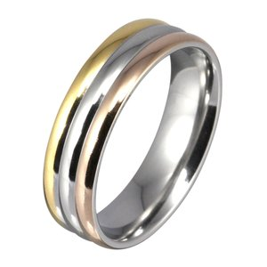 【セール】指輪 ステンレスリング メンズ レディース シンプル ゴールドカラー アクセサリー|e-standard