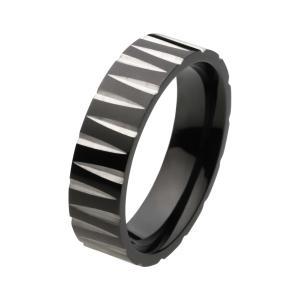 ステンレスアクセサリー ステンレスリング 指輪 ブラック 男性用|e-standard