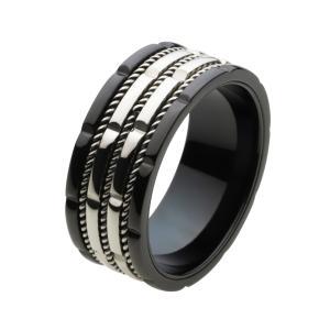 ステンレス 指輪 ステンレスリング メンズ ワイヤーデザイン 回転ギミック e-standard