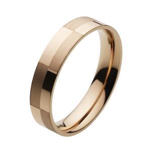 ステンレス 指輪 ステンレスリング メンズ ピンクゴールド チェック柄|e-standard