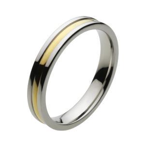 ステンレスリング 指輪 メンズ ゴールドカラー ツートン ピンキーリング|e-standard