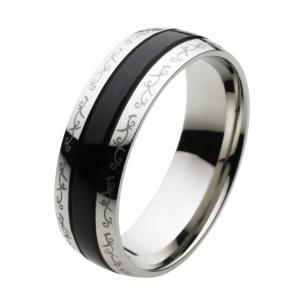 指輪 メンズ ステンレスリング アラベスク 唐草模様|e-standard