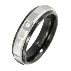 ステンレスアクセサリー ステンレスリング 指輪 ジルコニア シンプル|e-standard