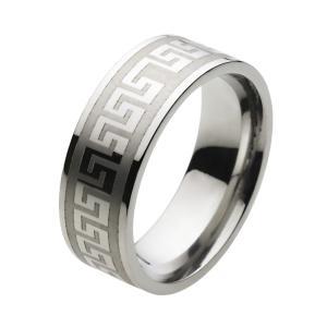 ステンレスリング 指輪 メンズリング 幾何学模様|e-standard