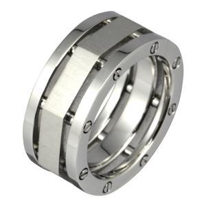ステンレスリング 指輪 メンズリング ネジ メカニカルデザイン