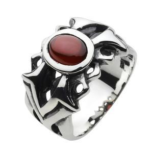 シルバーリング 指輪メンズ ガーネット|e-standard