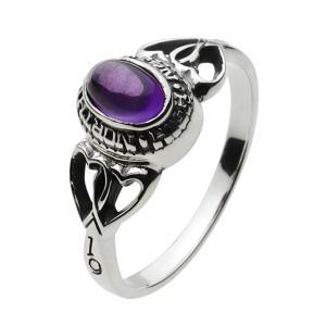 シルバーアクセサリー シルバーリング 指輪メンズ アメジストパワーストーンリング メンズピンキーリング 指輪シルバー925リング|e-standard