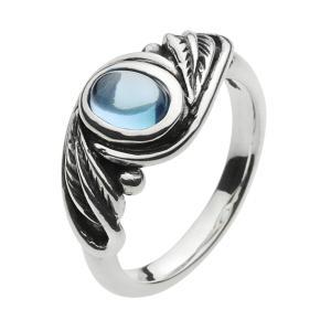 シルバーリング 指輪メンズ ブルートパーズ|e-standard