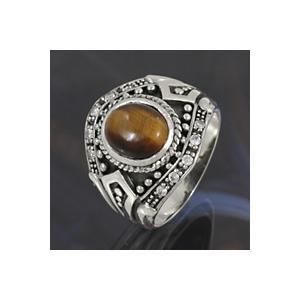 指輪 メンズ シルバーアクセサリー シルバーリング タイガーアイリング 指輪|e-standard