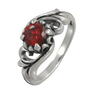 シルバーリング 指輪シルバー925 レッドジルコニア リング 指輪|e-standard