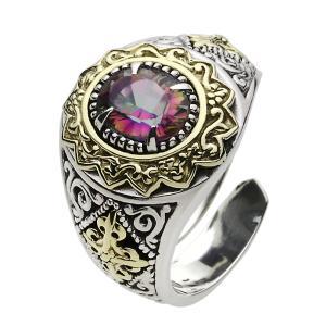 指輪 シルバーリング メンズ ミスティッククォーツ クロス|e-standard