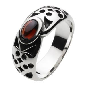 シルバーアクセサリー シルバーリング 指輪メンズ パワーストーンリング ガーネット メンズピンキーリング 指輪|e-standard
